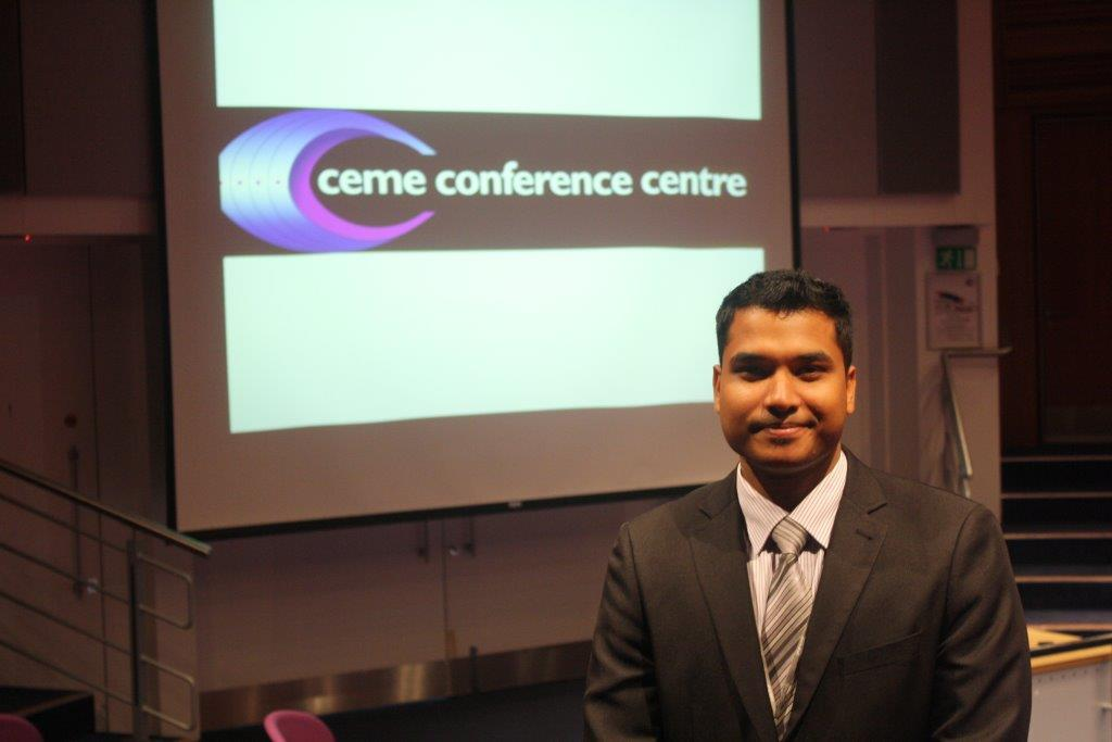 CEME Events Manager Ranjith Kumar