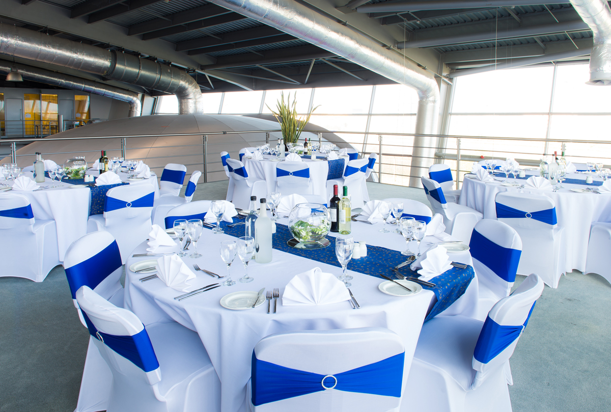 Formal dining for parties on the POD Deck