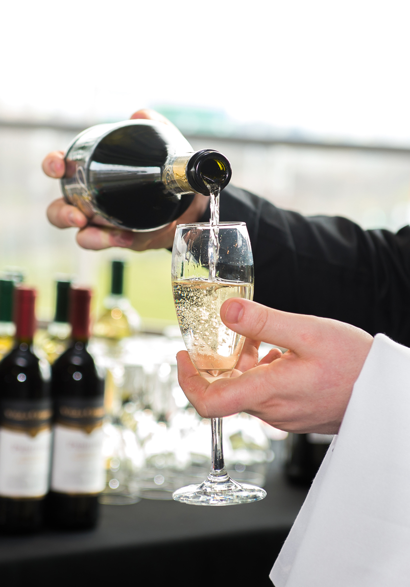 We offer both Champagne and Prosecco